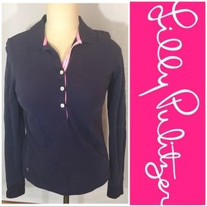 🎉30% OFF BDLS🎉 Lilly Pulitzer navy polo